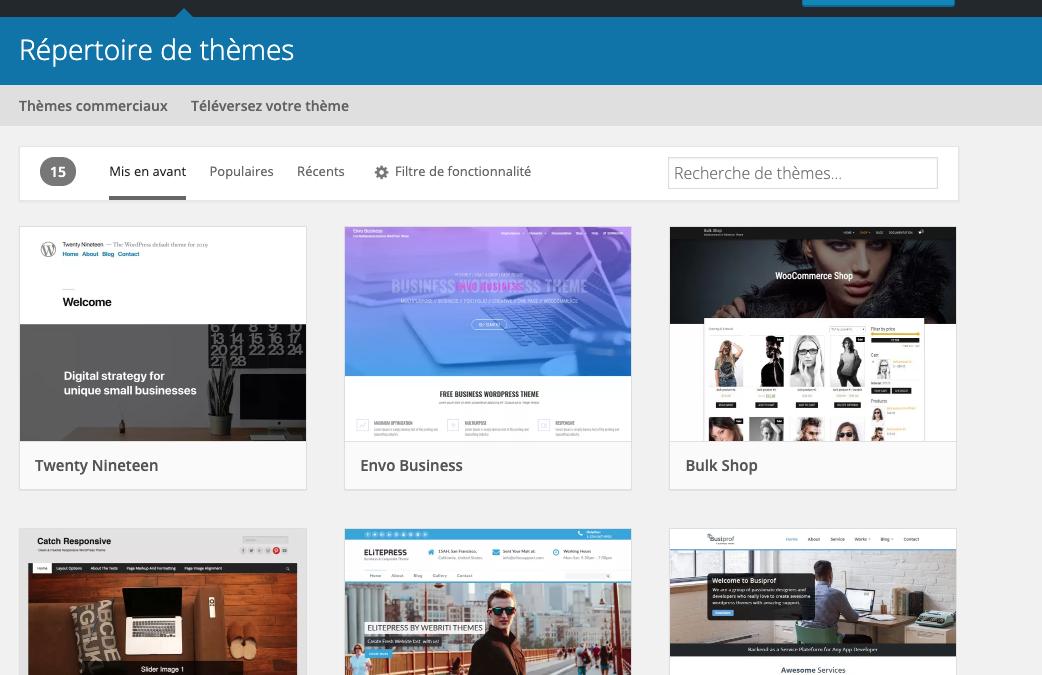 Thème WordPress : c'est quoi ? Comment trouver un thème WordPress ?